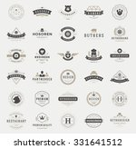 retro vintage logotypes or... | Shutterstock .eps vector #331641512