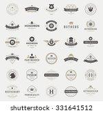 retro vintage logotypes or... | Shutterstock .eps vector #331641512