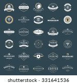 retro vintage logotypes or... | Shutterstock .eps vector #331641536
