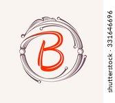 b letter monogram design...