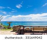 beach cafe in okinawa in japan | Shutterstock . vector #331649042