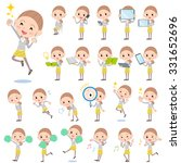set of various poses of behind... | Shutterstock .eps vector #331652696