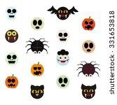 set of halloween monsters  ...   Shutterstock .eps vector #331653818