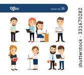 office people. business men and ... | Shutterstock .eps vector #331670282
