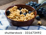 oatmeal with grapes  healthy... | Shutterstock . vector #331673492