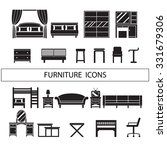 furniture icons   dressing... | Shutterstock .eps vector #331679306
