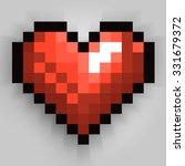 happy valentines day pixel... | Shutterstock .eps vector #331679372