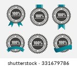 100  satisfaction retro label... | Shutterstock . vector #331679786