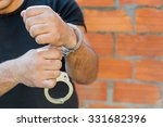 arrest  close up shot man's... | Shutterstock . vector #331682396