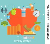 health and sport lifestyle... | Shutterstock .eps vector #331683782