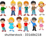 happy little kids collection...   Shutterstock . vector #331686218