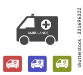 ambulance icon. vector  eps 10  | Shutterstock .eps vector #331696322