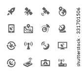 simple set of satellite related ... | Shutterstock .eps vector #331701506