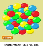 Colored Candy  Vector