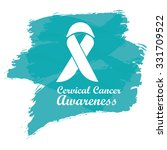 white ribbon with teal brush... | Shutterstock .eps vector #331709522