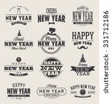 typographic happy new year ... | Shutterstock .eps vector #331712186
