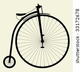 Penny Farthing Bicycle Vector 01