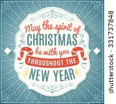 christmas label with text and... | Shutterstock .eps vector #331737848