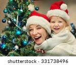 happy mother and daughter in... | Shutterstock . vector #331738496