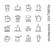 coffee icons set   thin line... | Shutterstock .eps vector #331738556