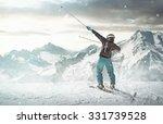 happy skier | Shutterstock . vector #331739528