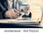 Online Payment Man's Hands...