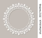 decorative vintage frame.... | Shutterstock .eps vector #331744946