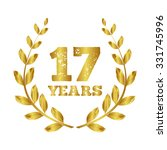 seventeen years. 17 icon. ... | Shutterstock .eps vector #331745996