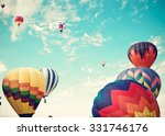colorful hot air balloons | Shutterstock . vector #331746176