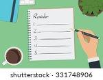 vector drawing reminder list... | Shutterstock .eps vector #331748906