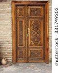 Wooden Decorated Door With...