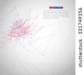 abstract geometric polygonal... | Shutterstock .eps vector #331749356