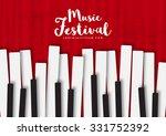 music poster template. vector... | Shutterstock .eps vector #331752392