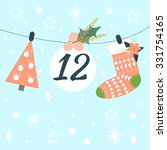 Advent Calendar. Vector...