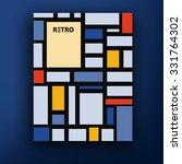vector retro bauhaus de stijl... | Shutterstock .eps vector #331764302