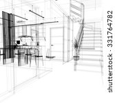 corridor in modern office with... | Shutterstock . vector #331764782