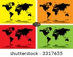a illustrated background of the ... | Shutterstock .eps vector #3317655