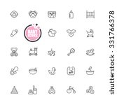 baby and kid icons | Shutterstock .eps vector #331766378