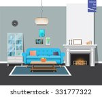 interior fireplace room.... | Shutterstock .eps vector #331777322