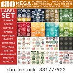 mega collection label set ... | Shutterstock .eps vector #331777922