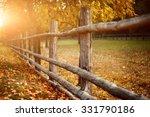 Rural Wooden Fence. Natural...