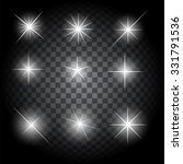 set of glowing light stars with ... | Shutterstock . vector #331791536