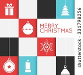 checkered christmas card with... | Shutterstock .eps vector #331798256