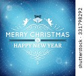 blue vector christmas card with ... | Shutterstock .eps vector #331798292