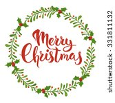 merry christmas calligraphy.... | Shutterstock .eps vector #331811132