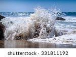 Powerful Waves Crash On The...