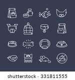 white icons for the pet store ...   Shutterstock .eps vector #331811555