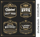 Stock vector classic vintage frame for labels banner and other design suitable for whiskey beer and premium 331812548