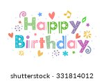 happy birthday | Shutterstock .eps vector #331814012