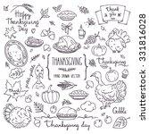 thanksgiving traditional... | Shutterstock .eps vector #331816028